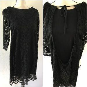 Dresses & Skirts - Vestry Black Backless Lace Dress